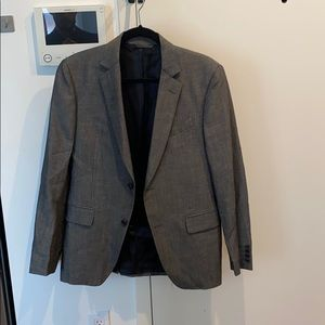 Gray John Varvatos suit jacket